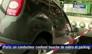 A Paris, un conducteur prend l'entrée du métro pour un parking