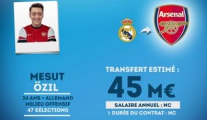 Officiel : Özil quitte le Real Madrid et signe à Arsenal