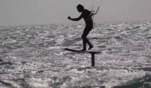 Sword wave riding - Kitefoil