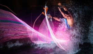 Glow in the dark surfing - Surfing Lights - 2013