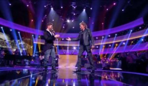 "Johnny Hallyday et Christophe Maé "" 20 ans "" - Johnny Hallyday, Le Grand Show 21/12/2013"