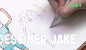 Comment dessiner Jake d'adventure time ?