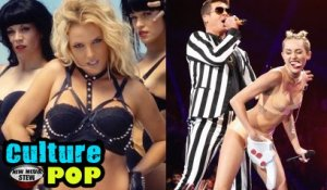 Miley Cyrus WRECKING BALL vs Britney Spears WORK B**CH...plus Twerking - NMS Culture Pop #19