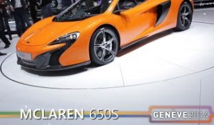 La McLaren 650S spider en direct du salon de Genève 2014