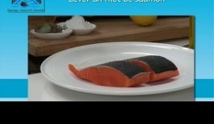 Lever un filet de saumon facilement - 750 Grammes