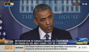 BFM Story: Edition spéciale: Intervention de Barack Obama au lendemain du crash du vol MH17 en Ukraine - 18/07