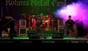 Faded Black's rocking performance at the Kohima Metal Fest 2012