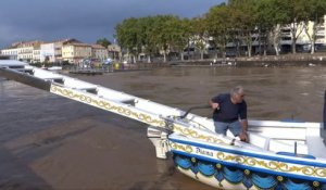 AGDE - 2014 - L' HERAULT en CRUE - VIDEO du 18 SEPTEMBRE a 15 h