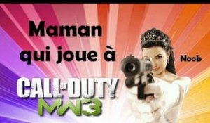 Maman qui joue à Call Of Duty : Modern Warfare 3