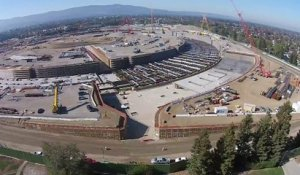 Construction du Campus Apple - The Donut