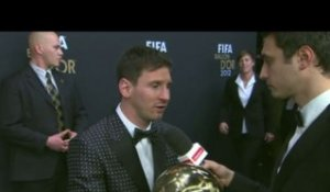 Foot - FIFA Ballon d'or : Messi, «Continuer comme ça»