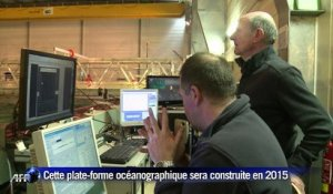 "Antarctique: tests sur la maquette du ""Polar POD"""