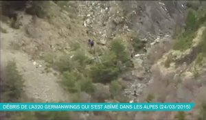 Les débris de l'Airbus A320 (Germanwings)