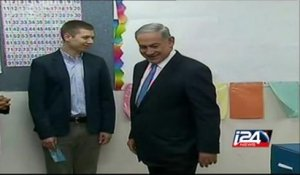 Israeli PM Benjamin Netanyahu votes in 20th Knesset elections