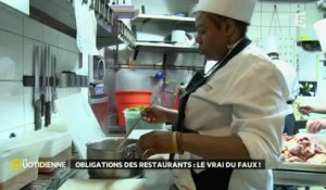 Obligations des restaurants : le vrai du faux !