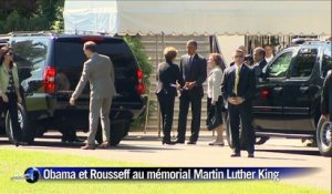 Obama et Rousseff visitent le mémorial Martin Luther King