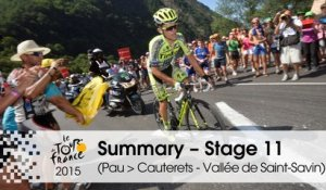 Summary - Stage 11 (Pau > Cauterets - Vallée de Saint-Savin) - Tour de France 2015