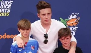 Les frères Beckham posent aux Nickelodeon Sports Awards