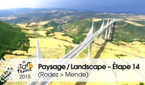 Paysage du jour / Landscape of the day - Étape 14 (Rodez > Mende) - Tour de France 2015