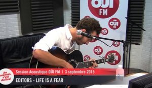 Editors - Life Is A fear - Session acoustique OÜI FM