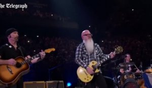 Les Eagles of Death Metal enflamment le concert de U2 à Bercy
