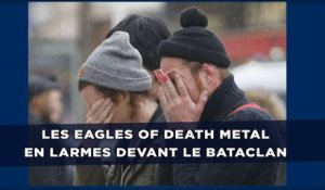 Attentats à Paris: Les Eagles of Death Metal en larmes devant le Bataclan
