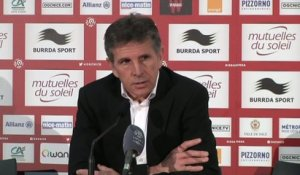 Foot - L1 - OGCN : Puel «Un sentiment d'incompréhension»