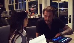 Interview exclusif de Johnny Hallyday par...Sa fille Jade!