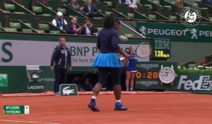 Les temps forts S. Williams - Svitolina Roland-Garros 2016 / 1/8