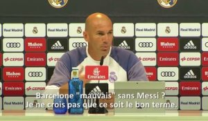"Real Madrid - Zidane : ""Messi reste Messi"""