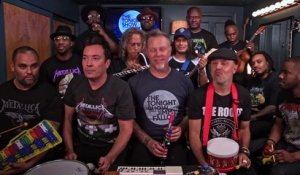 Metallica, Jimmy Fallon et The roots reprennent Enter Sandman avec des instruments d'enfant - The Tonight Show