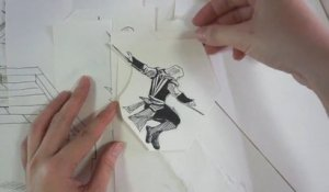 Animation en papier découpé « Assassin's Creed »