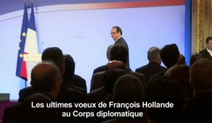 Ultimes voeux de Hollande au Corps diplomatique
