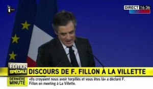 François Fillon défend son épouse Penelope en plein meeting à Paris