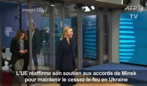 Ukraine: l'UE veut le respect des accords de Minsk