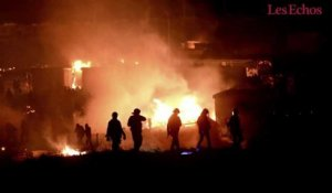 Un incendie ravage le camp de migrants de Grande-Synthe