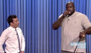 Shaquille O'Neal & Jimmy Fallon Perform a Lip-Sync Duet on 'The Tonight Show' | Billboard News