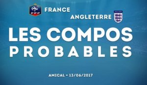 France-Angleterre : les compos probables