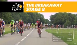 L'échappée / The breakaway - Étape 8 / Stage 8 - Tour de France 2017