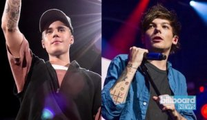 Fan Army Face-Off: Justin Bieber's Beliebers Battle Louis Tomlinson's Fans | Billboard News