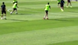 L'incroyable but de Marcelo à l'entraînement du Real Madrid
