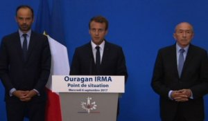 "Irma: Macron annonce un ""plan national de reconstruction"""