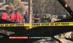 Incendies en Californie : les secouristes à la recherche des disparus