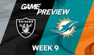 Raiders vs. Dolphins Week 9 game preview