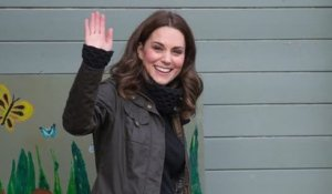Pregnant Duchess of Cambridge Visits Primary School