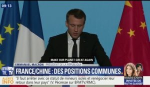 "À Xi'an, Emmanuel Macron décline son ""Make our planet great again"" en version chinoise"