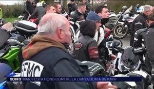 Manifestations contre la limitation à 80 km/h