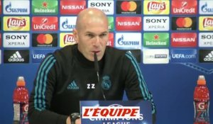 Foot - C1 - Real Madrid : Zidane «On n'a pas de pression»
