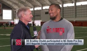 Bradley Chubb explains why his pro day was more 'intense' than the combine