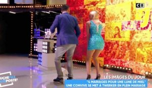 Le twerk de Kelly Vedovelli à Cyril Hanouna - ZAPPING PEOPLE DU 13/04/2018